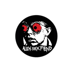 Acid Bath / E.S.T. Alien Sex Fiend Badge - Blue Crumb Truck