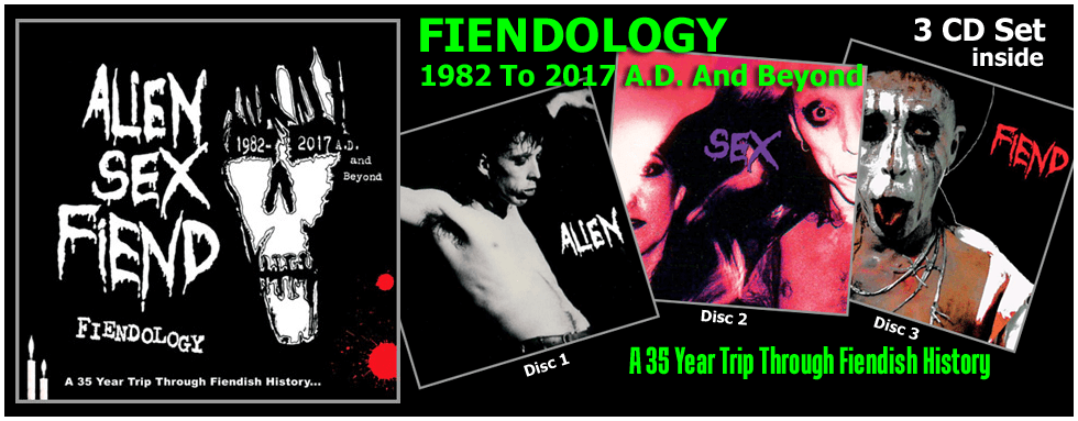 Fiendology 3CD Set by Alien Sex Fiend